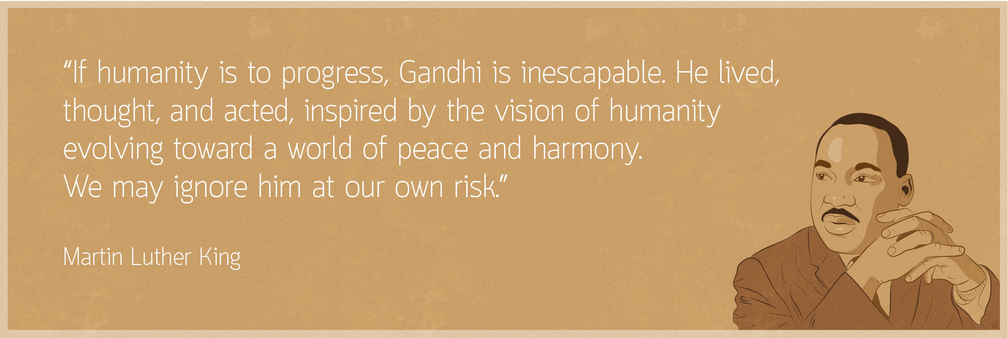 Martin Luther King Borderless Gandhi website homepage